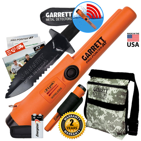 Garrett Pro Pointer AT Z-LYNK Waterproof Pinpointer w/ Camo Pouch & Edge Digger