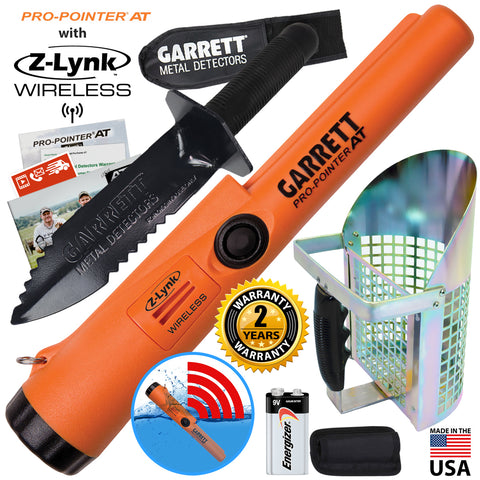 Garrett Pro-Pointer AT Z-LYNK Pinpointer with Edge Digger Anodized Sand Scoop