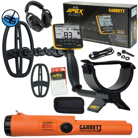 Garrett ACE APEX Detector with Z-Lynk Headphone Package & Pro-Pointer AT Z-Lynk