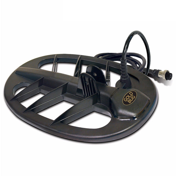 "Fisher 11"" Solid Biaxial DD Black Elliptical Coil for Gold Bug"