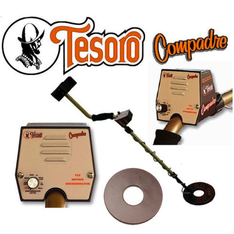"Tesoro Compadre Metal Detector with 8"" Concentric Search Coil and Coil Cover"