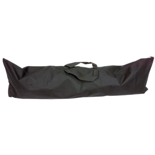 Large Black Vinyl Metal Detector Bag with Full Zipper and Carry Handles