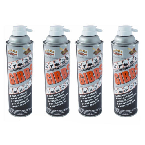 Gibbs Brand Lubricant 12 oz Spray Cans, Set of 4
