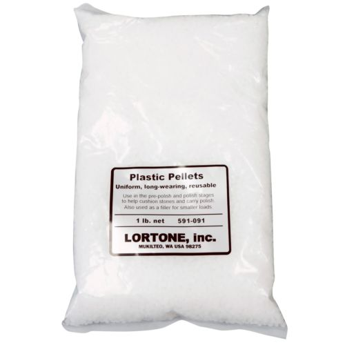Lortone 1 lb. Plastic Pellets Rock Tumbling Media Filler Cushion