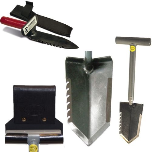 "Lesche Combo w/ 18"" Serrated Shovel, Digging Tool, & Holsters"