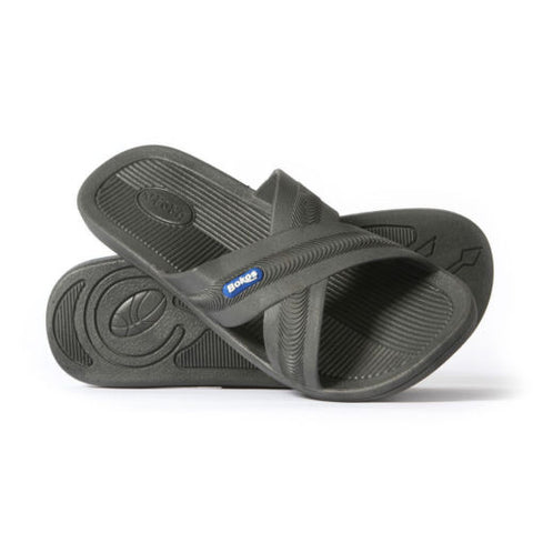 Bokos Durable Gray Anti Slip Mens Sandals Easy to Clean and Odor Resistant