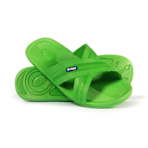 Bokos Durable Lime Green Anti Slip Mens Sandals Easy to Clean and Odor Resistant