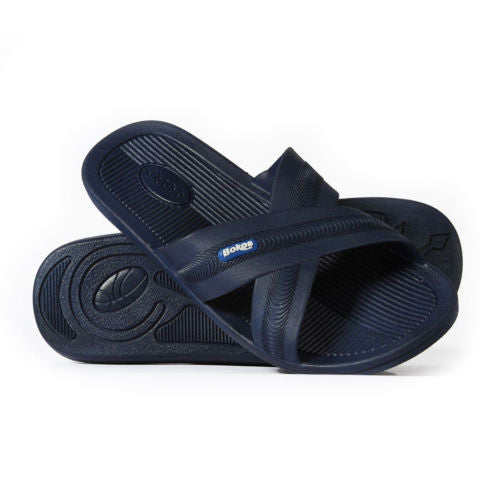 Bokos Durable Navy Blue Anti Slip Mens Sandals Easy to Clean and Odor Resistant