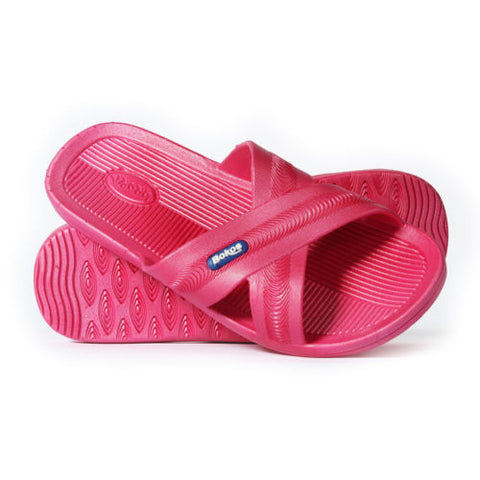 Bokos Durable Dark Pink Anti Slip Womens Sandals Easy to Clean & Odor Resistant