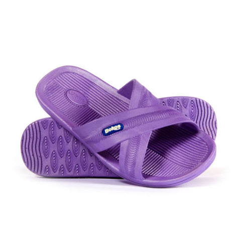 Bokos Durable Lavender Anti Slip Womens Sandals Easy to Clean and Odor Resistant