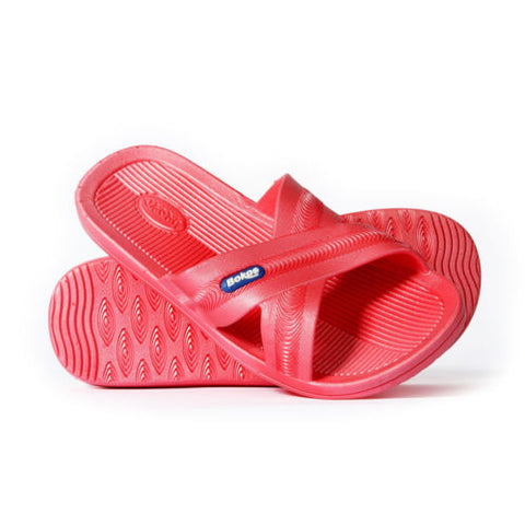 Bokos Durable Melon Pink Anti Slip Womens Sandals Easy to Clean & Odor Resistant