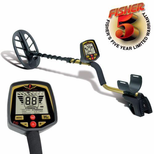 "Fisher F70 Metal Detector with 11"" DD Double-D Search Coil and 5 Year Warranty"