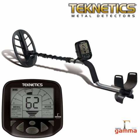 "Teknetics Gamma 6000 Metal Detector w/ 11"" DD Double-D Coil and 5 Year Warranty"