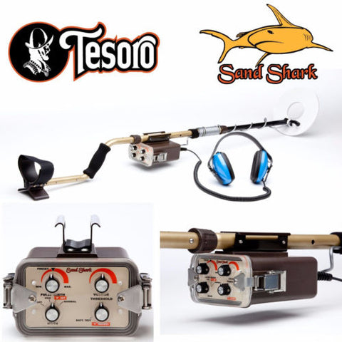 "Tesoro Sand Shark Metal Detector with 10.5"" Search Coil"