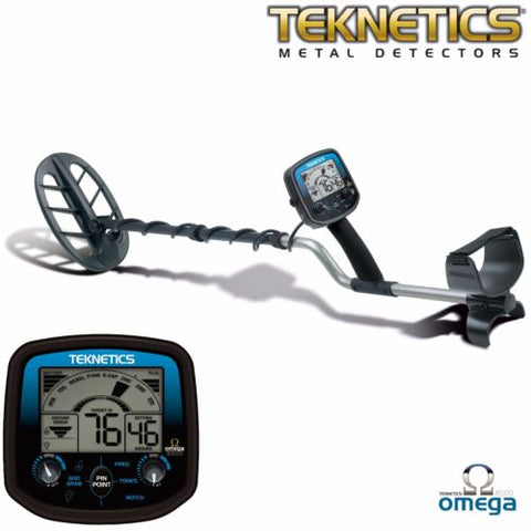 "Teknetics Omega 8500 Metal Detector w/ 11"" DD Double-D Coil & 5 Year Warranty"