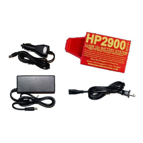 RnB Innovations HP-2900 & Car Charger Lithium-ion 12v Battery for Whites MDs