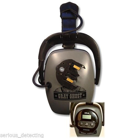 DetectorPro Gray Ghost XP Headphones for Cordless XP Deus Detector