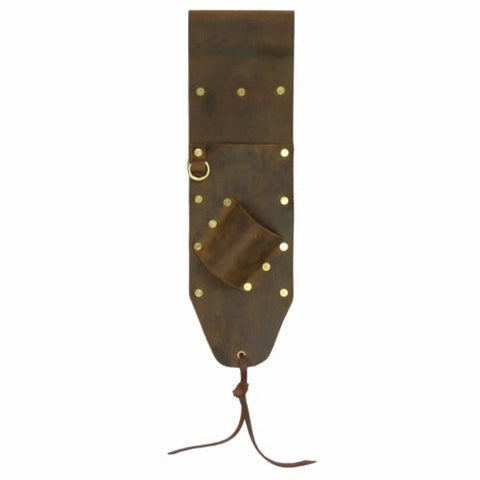 High Quality Brown Leather Sheath for PinPointer and Digging Tool- Right Sided