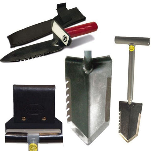"Lesche Combo w/ 18"" Serrated Shovel, Digging Tool & Holsters"