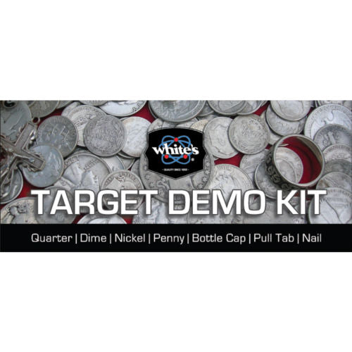 Whites Target Demo Kit Test Common Targets with Your Metal Detector