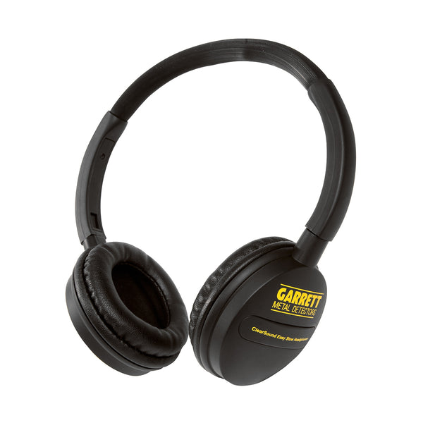 Garrett ClearSound Easy Stow Headphones with In-Line Volume for Metal Detectors!