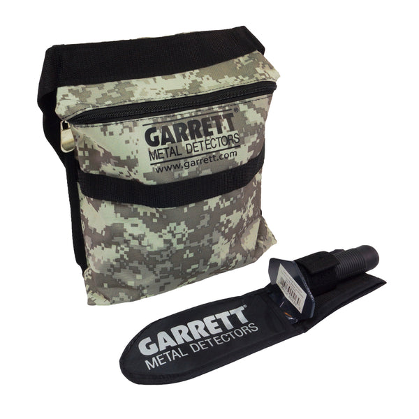 Garrett Edge Metal Detector Digger w/ Sheath and Camo Finds Pouch Combo