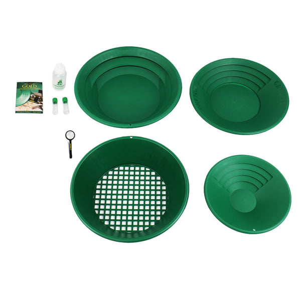 Garrett Deluxe Gold Panning Kit Complete with DVD & Gravity Trap Pan