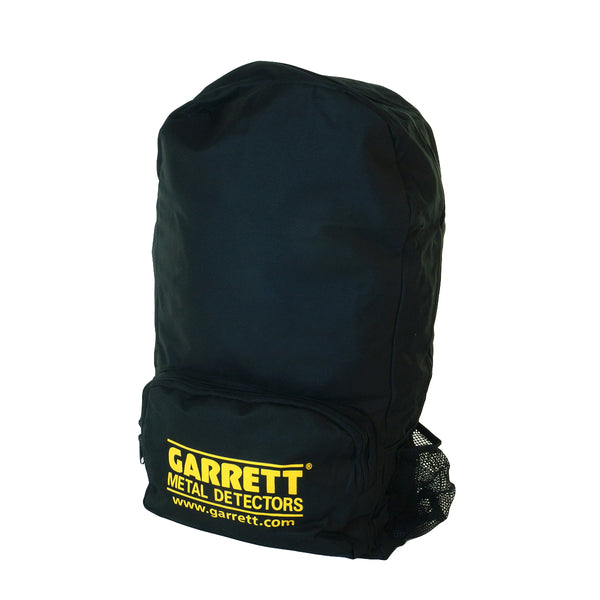 Garrett All-Purpose Backpack Adjustable Straps, Yellow Logo and Interior Search Coil Pouch