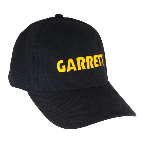 Garrett Black Baseball Cap w/ Gold Embroidery