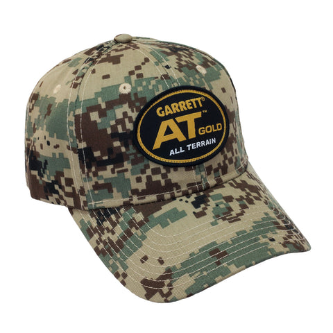 Garrett AT Gold Camo Baseball Cap One Size Fits All with Velcro Strap