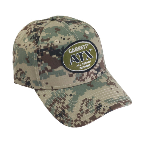 Garrett ATX Camo Baseball Cap One Size Fits All with Velcro Strap