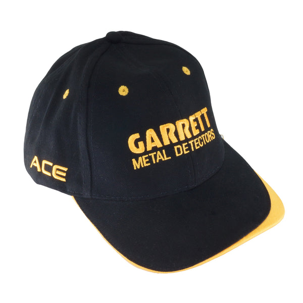 Garrett ACE Black Baseball Cap One Size Fits All with Velcro Fastener