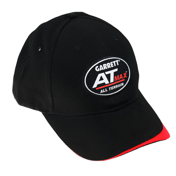 Garrett AT MAX Black Baseball Cap One Size Fits All with Fastener Strap