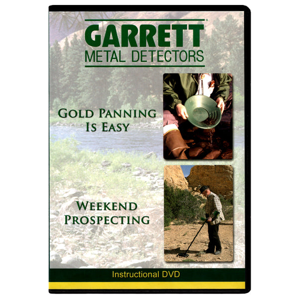 Gold Panning is Easy & Weekend Prospecting -2 videos- Garrett Instructional DVD