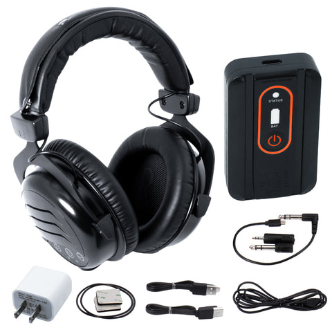Quest Wirefree Pro Lightweight Wireless Over Ear Headphones 2.4 GHz & Bluetooth