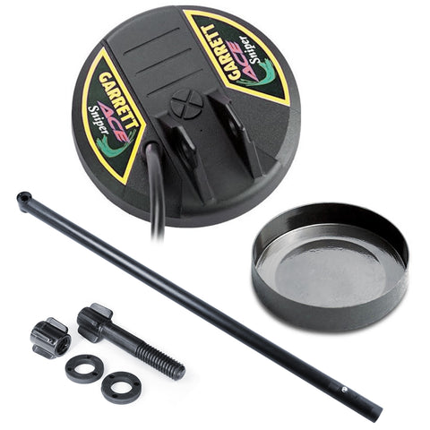 Garrett 4.5'' ACE Sniper Search Coil w/ Coil Cover, Lower Rod & Mounting Hardware