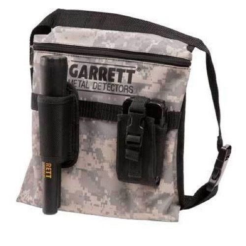 New Garrett Camo Canvas Metal Detecting Finds Pouch with Belt
