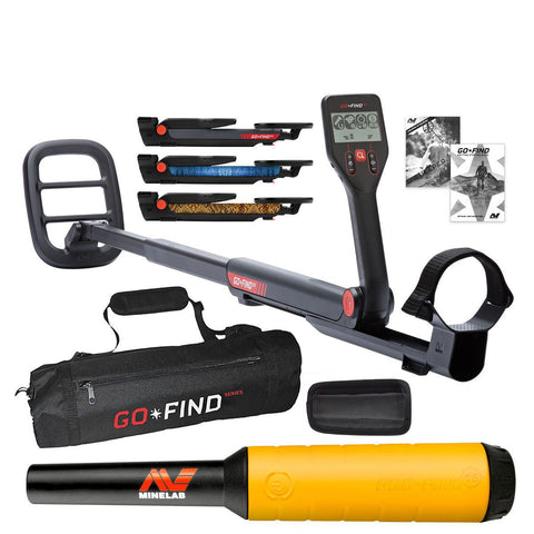 Minelab GO-FIND 22 Metal Detector with PRO-FIND 20 Pinpointer & Black Carry Bag