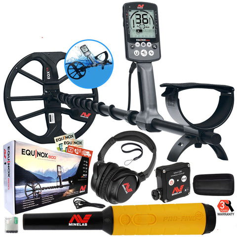 Minelab EQUINOX 800 Multi-IQ Metal Detector with Pro-Find 35 Pinpointer