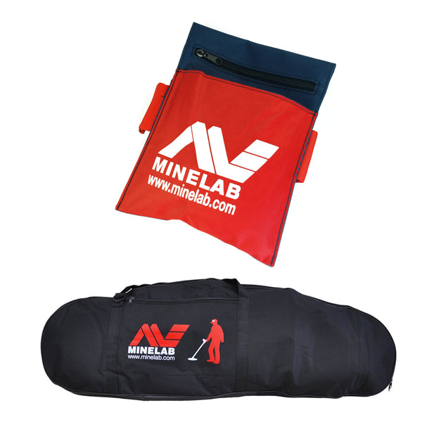 Minelab Deluxe Carry Bag and Minelab Canvas Treasure Tool Pouch