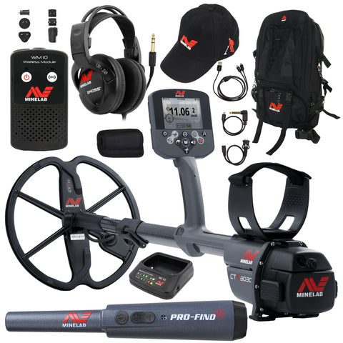 Minelab CTX 3030 Metal Detector with Hat, Pro-Find 25 and Backpack