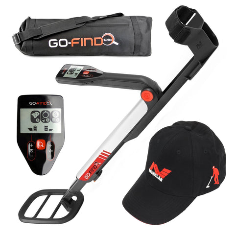 Minelab GO-FIND 20 Metal Detector Special with Carry Bag & Black Baseball Hat