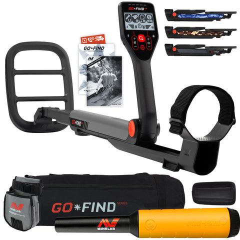 Minelab GO FIND 44 Metal Detector with PRO FIND 20, Black Carry Bag, Finds Pouch
