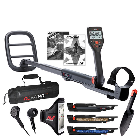 Minelab GO-FIND 66 Metal Detector with GO-FIND Black Carry Bag for Transport