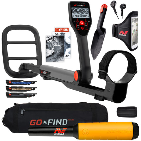 Minelab GO-FIND 66 Metal Detector with PRO-FIND 20 Pinpointer & Black Carry Bag