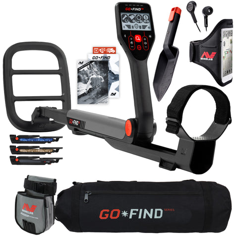 Minelab GO FIND 66 Metal Detector with Black Transport Carry Bag and Finds Pouch