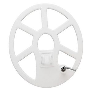 "Tesoro 12x10"" Elliptical Concentric Search Coil White 3ft Cable"
