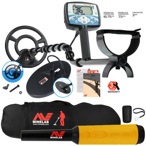 Minelab X-Terra 705 Dual Pack Metal Detector with Pro Find 35, Padded Carry Bag
