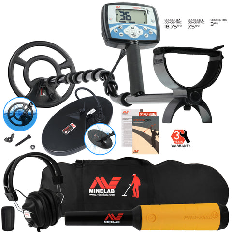 Minelab X-Terra 705 Dual Pack w/ Pro Find 15, RPG Headphones, and Carry Bag