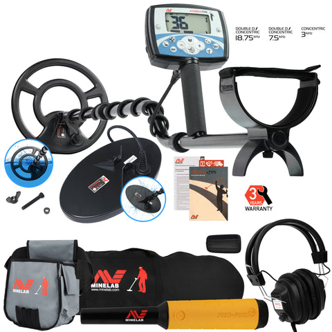 Minelab X-Terra 705 Dual Pack w/ Pro Find 15, Headphones, Carry Bag, Finds Pouch